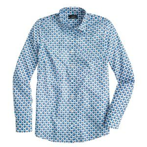 J Crew Honeypie Perfect Shirt Blue sz 12 tall NWT